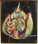 Mel Zabarsky, Crab, Oil on Canvas