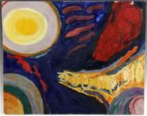 Katherine Porter, Full Moon & Tornadoes, Oil