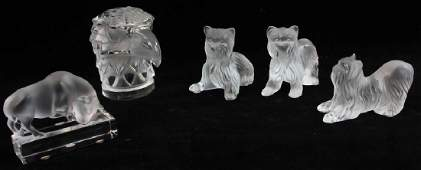 Collection of Lalique Crystal Figures