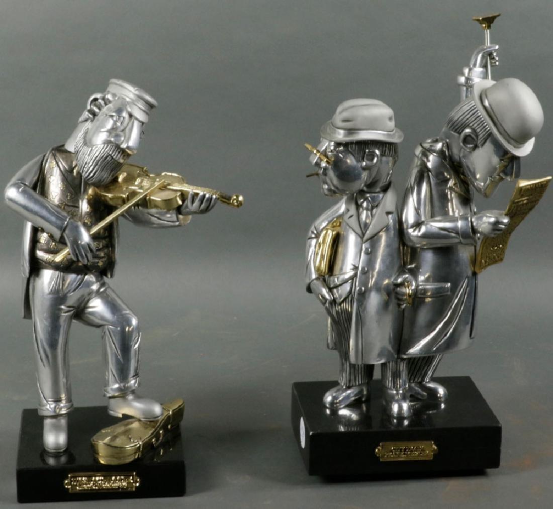 Two Frank Meisler Mixed Metal Sculptures