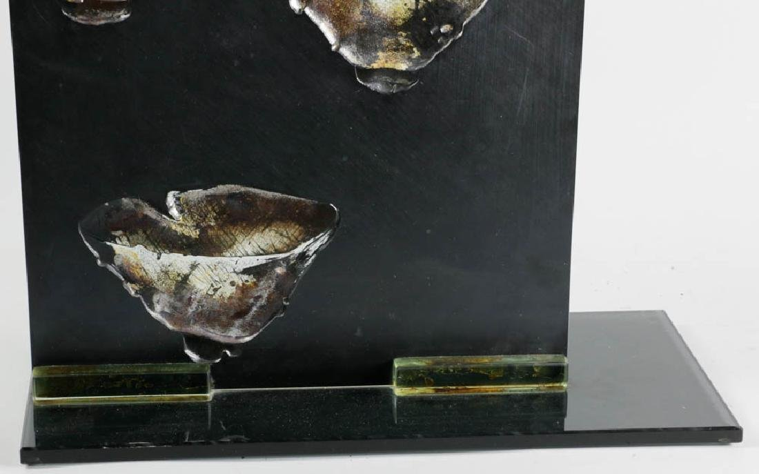 Glass Panel Sculpture Signed La Scola - 3