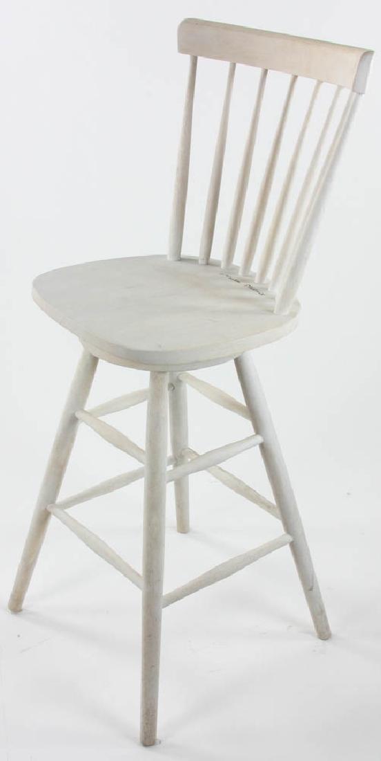 Signed Martha Stewart High Swivel Chair