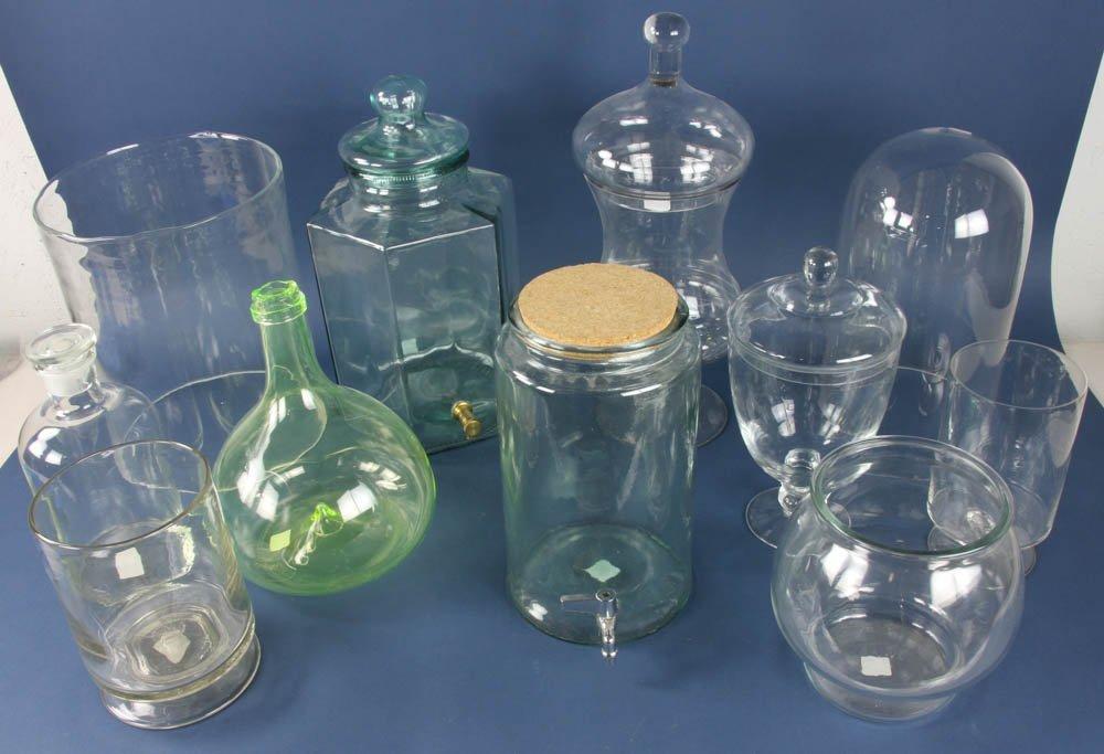 Group of (11) Glass Jars, Dispensers, Vases, etc. - 2