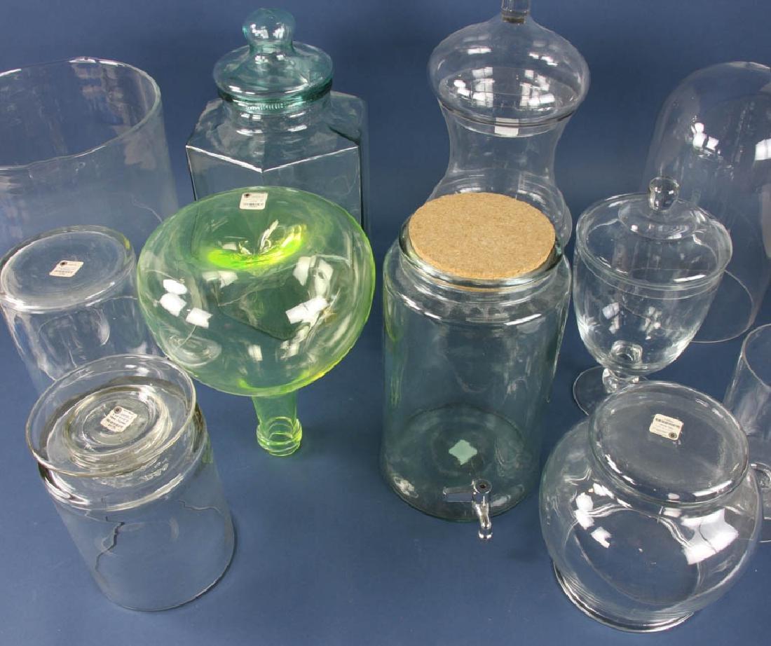 Group of (11) Glass Jars, Dispensers, Vases, etc. - 3