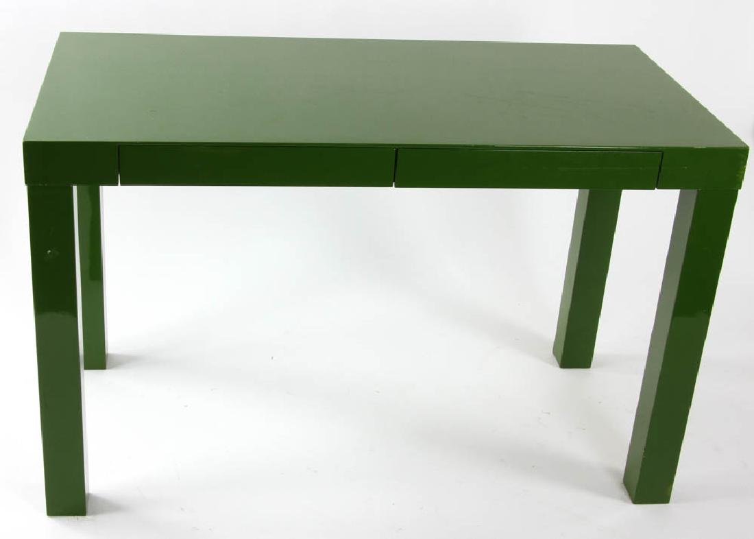 West Elm Green Lacquered ParsonsTable