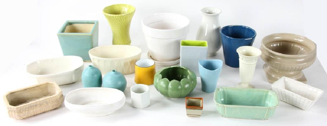 Group of Ceramic Planters and Vases