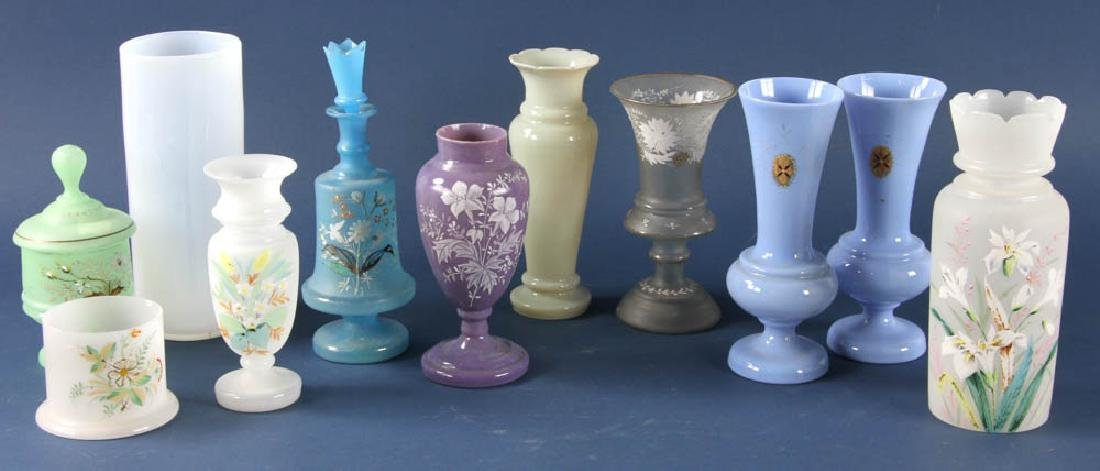 Group of Bristol Glass Pieces