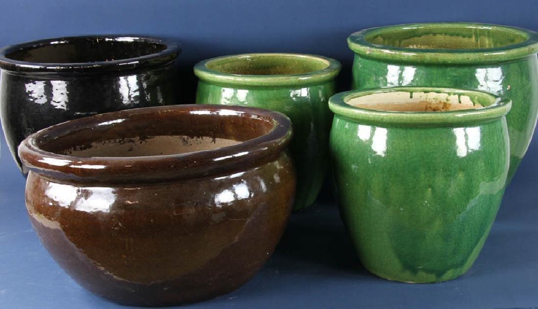Group of Ceramic Planters