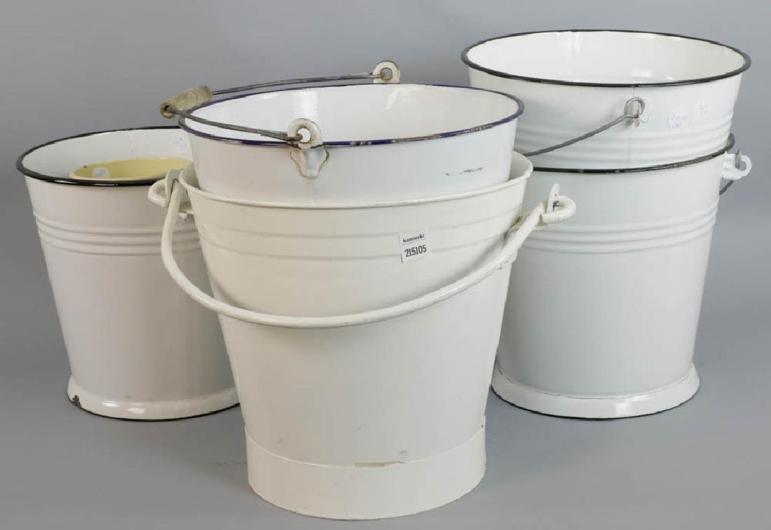 Group of Assorted Tin Pails