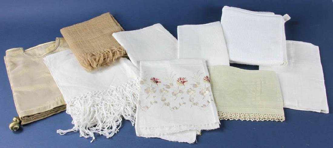 Group of Towels, Table Runners, Tree Skirt