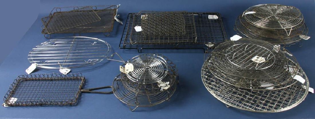 Group of Assorted Metal Cooling Racks
