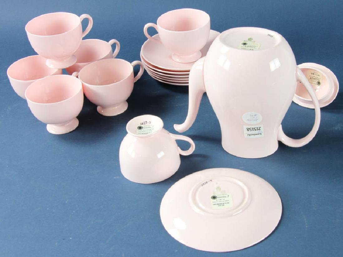 Wedgwood Pink Bone China Tea Set - 2