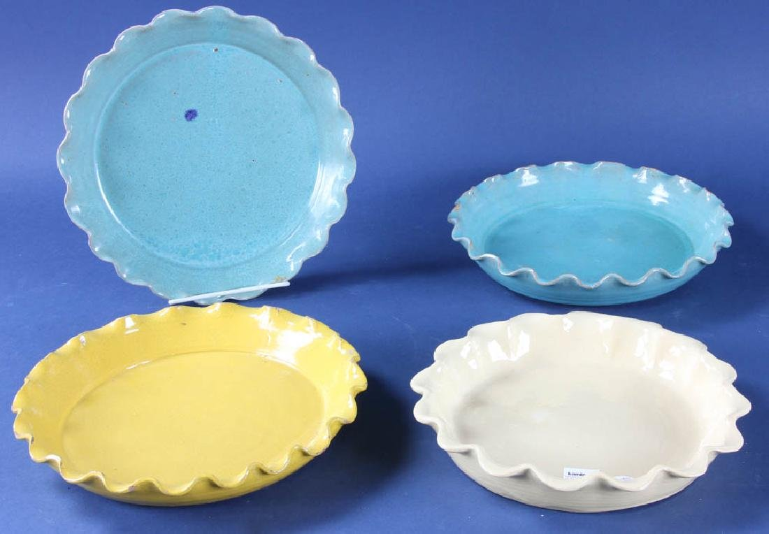 Group of Crimped Edge Pie Plates
