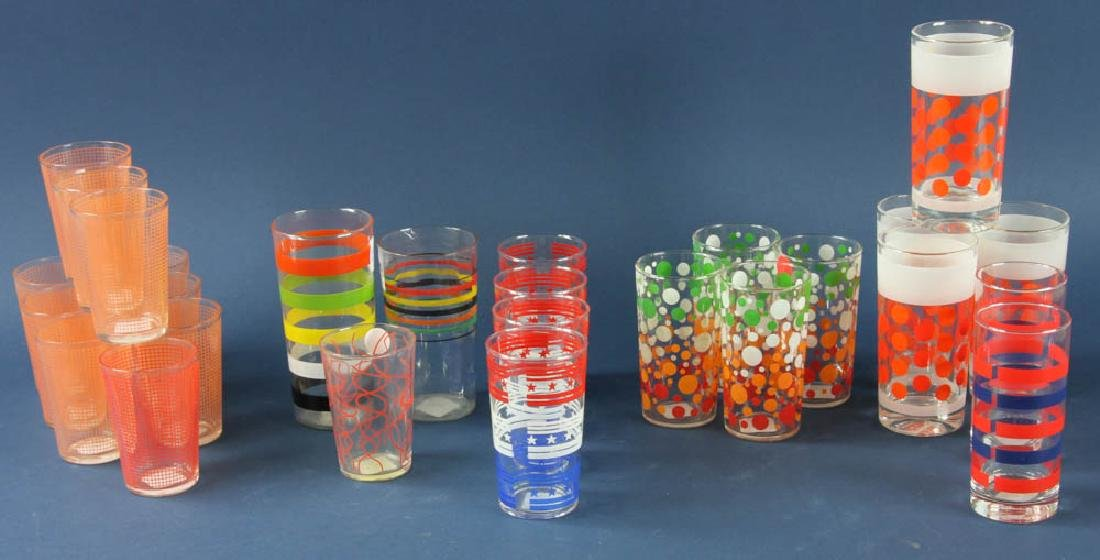 Group of Retro Style Water Glasses