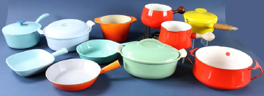 Vintage Enamel Cast Iron and Steel Cookware