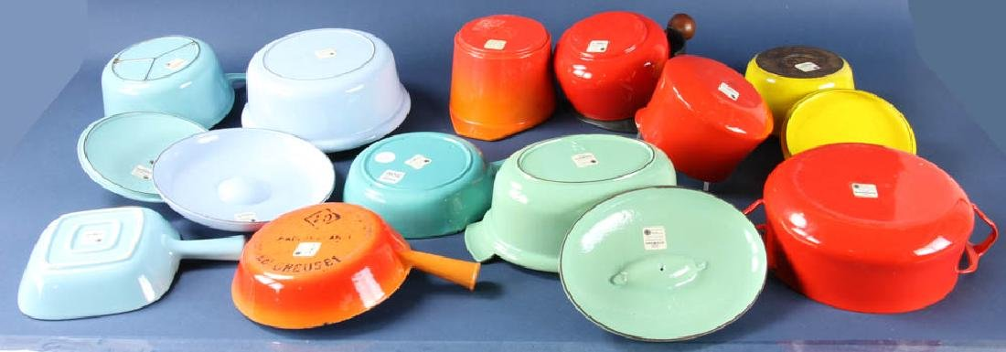 Vintage Enamel Cast Iron and Steel Cookware - 2