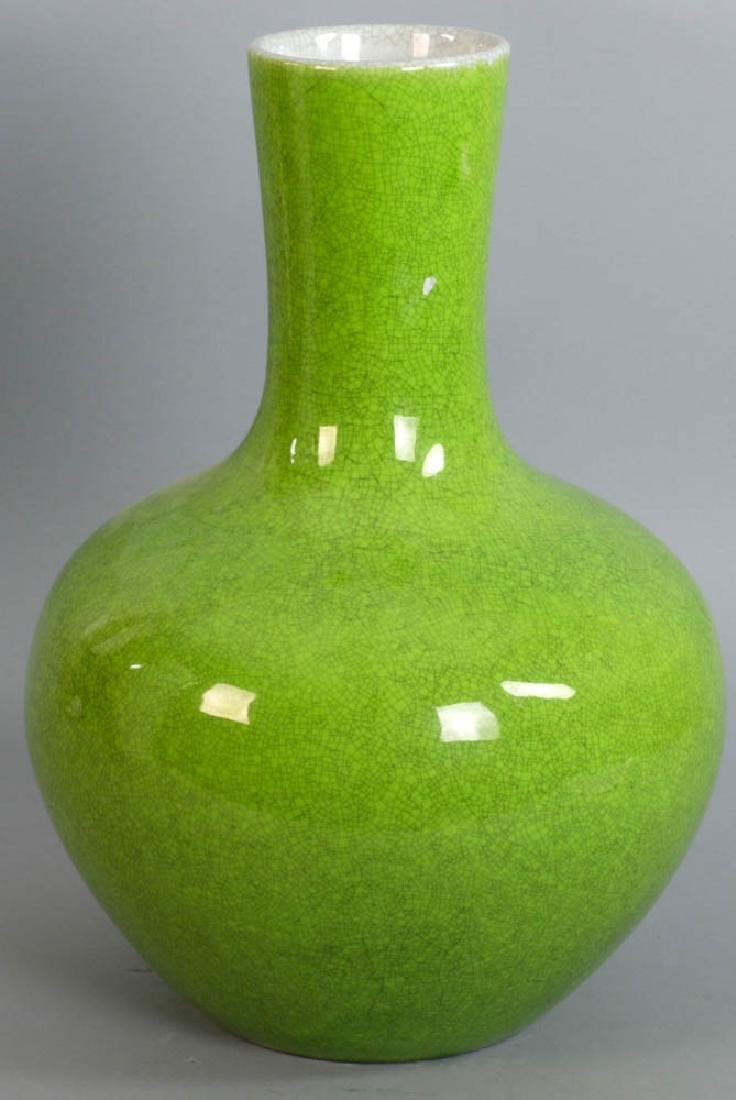 Chinese Green Crackle Glazed Vase