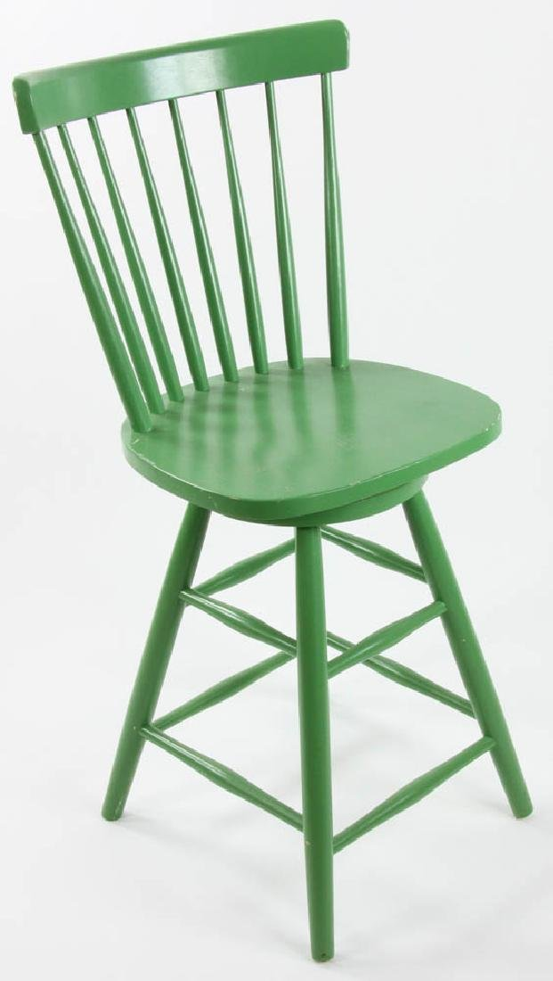 Green Painted Swivel Chair