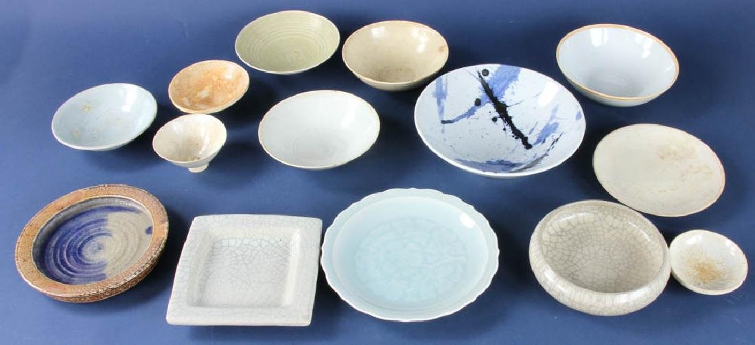 Group of Antique Asian Pottery Items