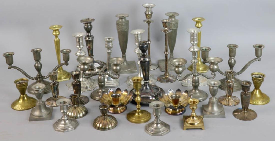 Collection of Candlesticks, Candelabra