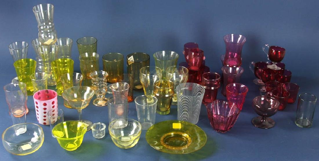 Collection of Cranberry Glassware Items