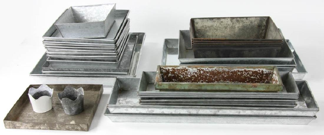 Group of Assorted Tin Trays