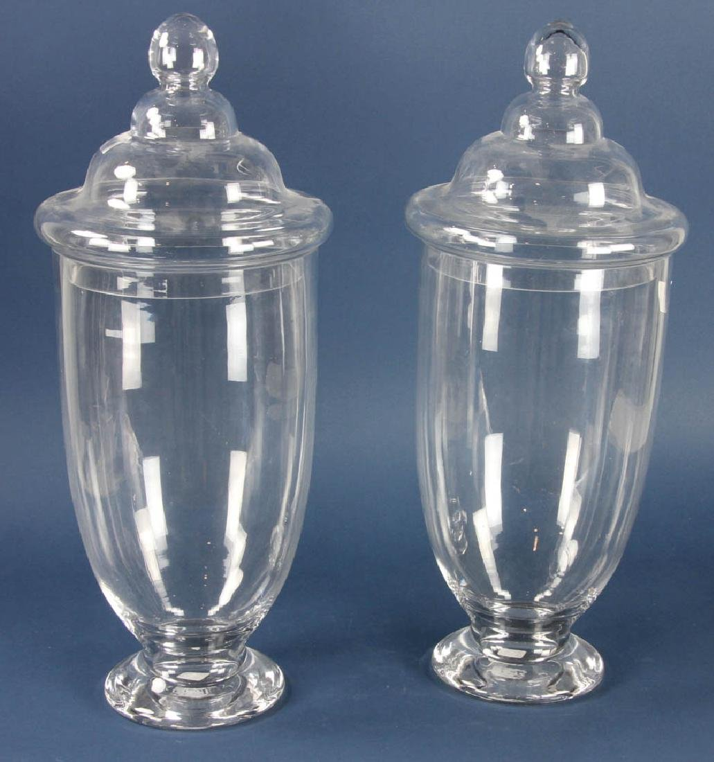 Two Tall Apothecary Jars