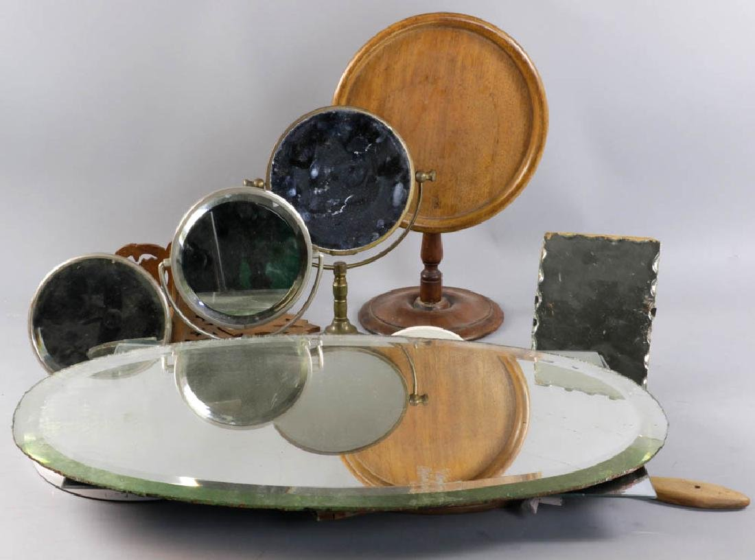 Assorted Vintage Mirrors, Wall Shelf