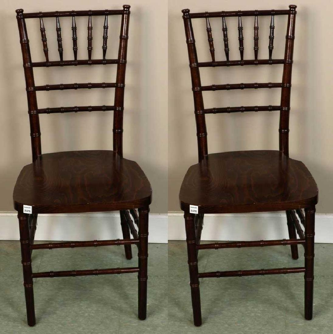Pair of Bamboo Style Dining Chairs