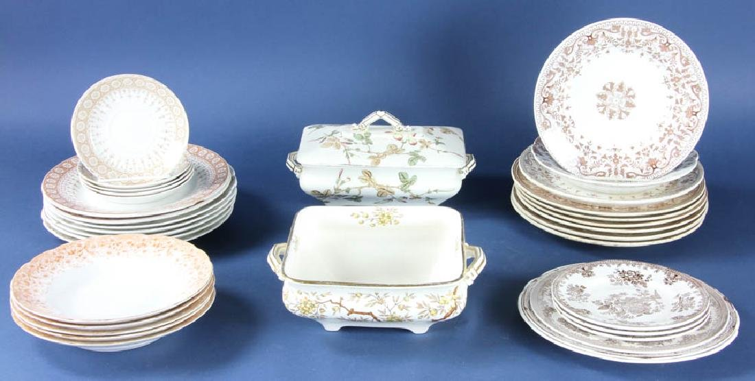 Vintage Transferware Dishes, Compotes