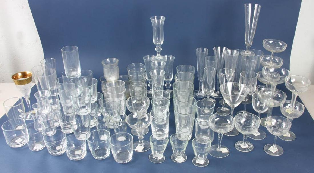Collection of Crystal Stemware, Glasses
