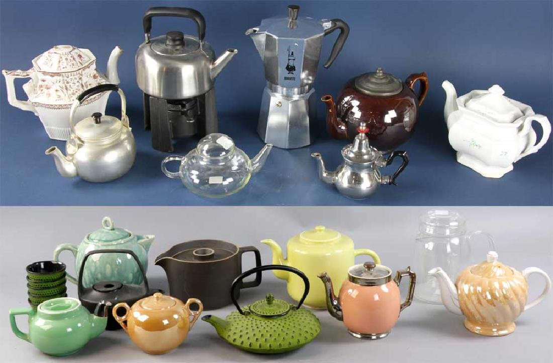 Collection of Assorted Teapots, Coffee Pots