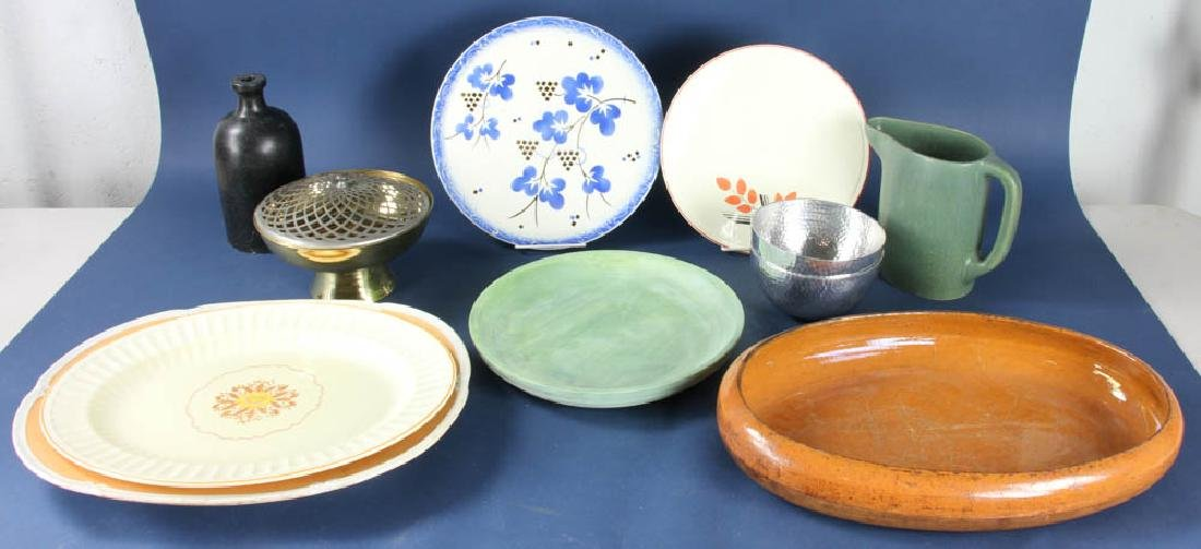 Collection of Vintage Trays, Bowls, Pitcher
