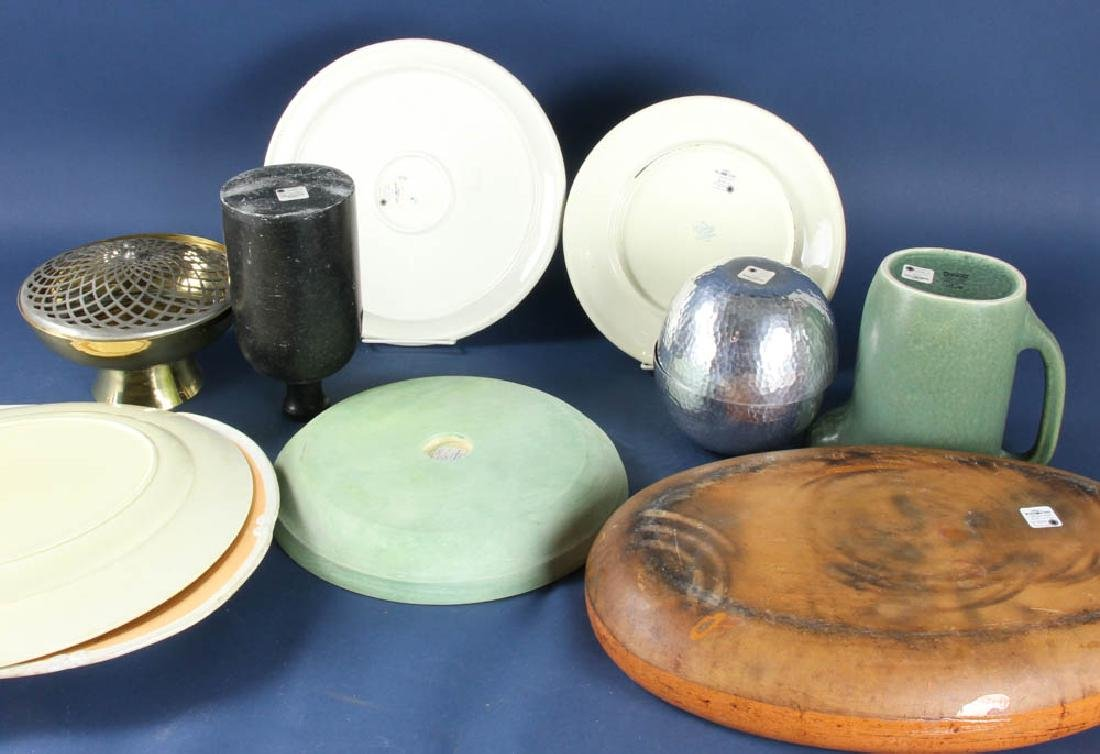 Collection of Vintage Trays, Bowls, Pitcher - 2