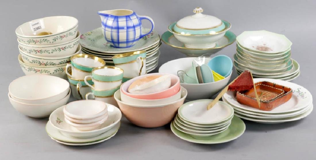 Collection of China Plates, Candle Collars