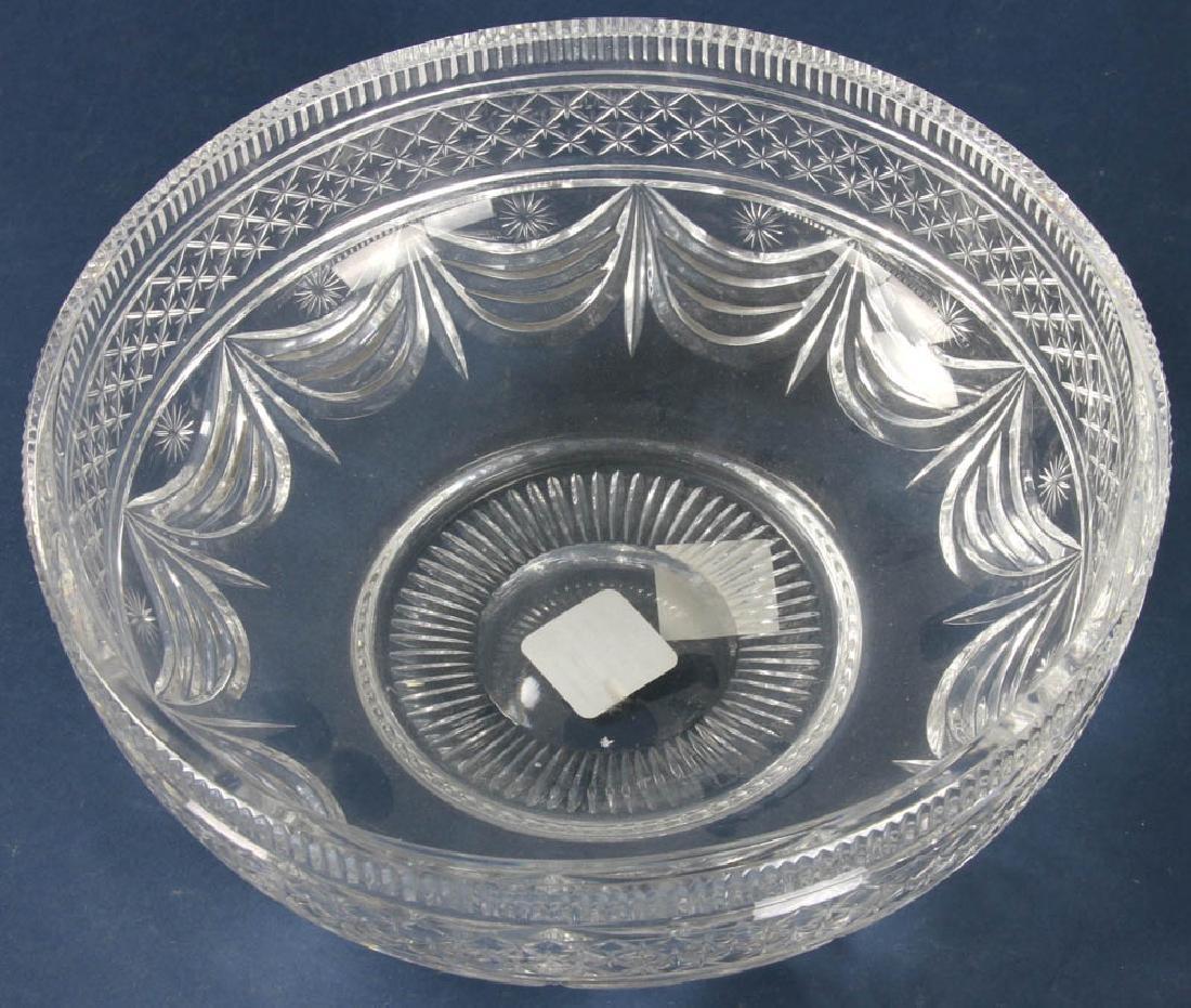Blown and Cut Crystal Bowl - 3