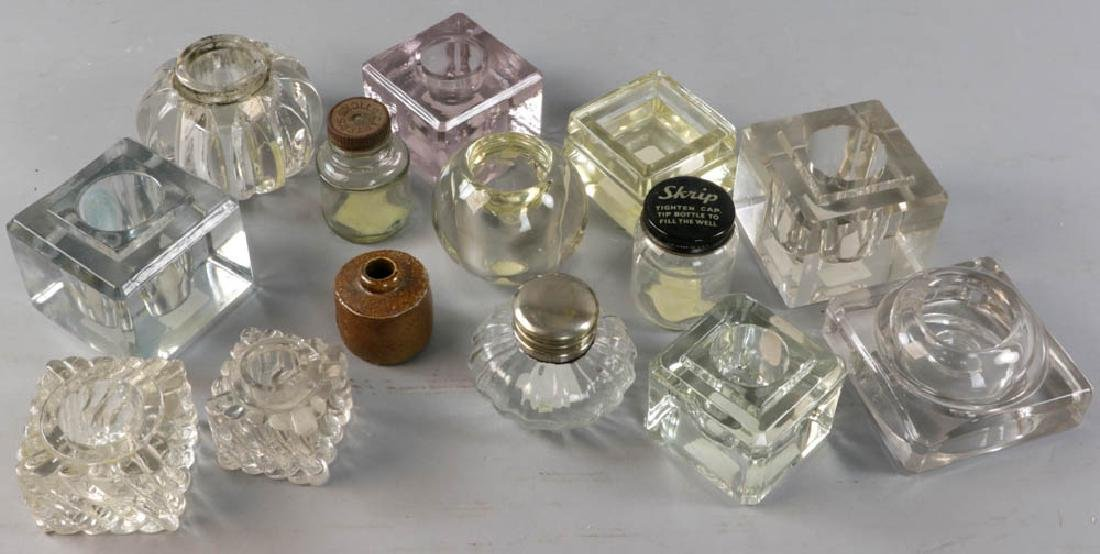 Collection of Inkwells and Ink Bottles