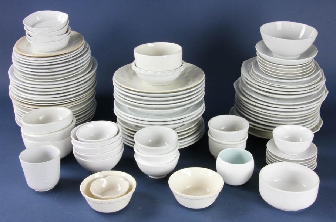 Collection Of White China Tableware