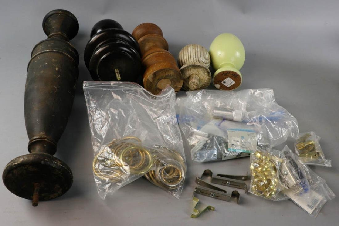 Wooden Finials and Curtain Hardware