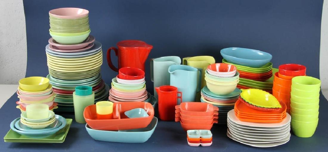 Assortment of Vintage Plastic Dinnerware