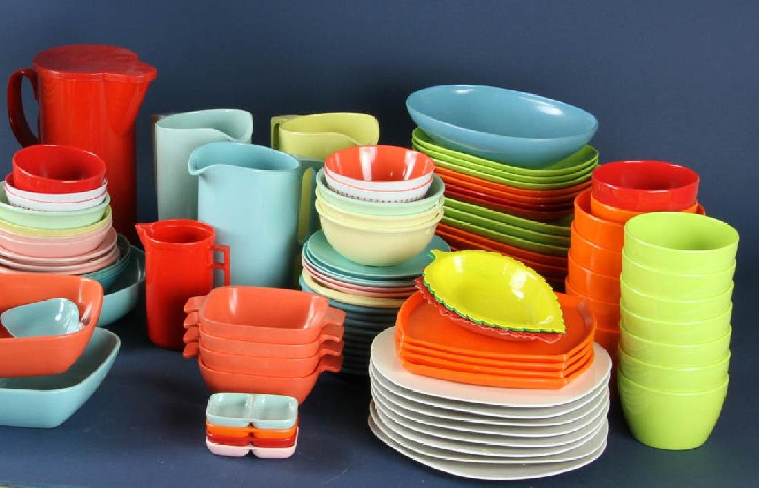 Assortment of Vintage Plastic Dinnerware - 2