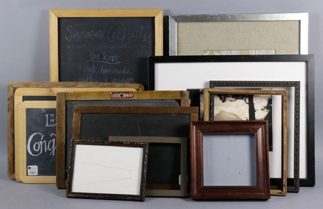 Collection of Picture Frames, Chalk Boards
