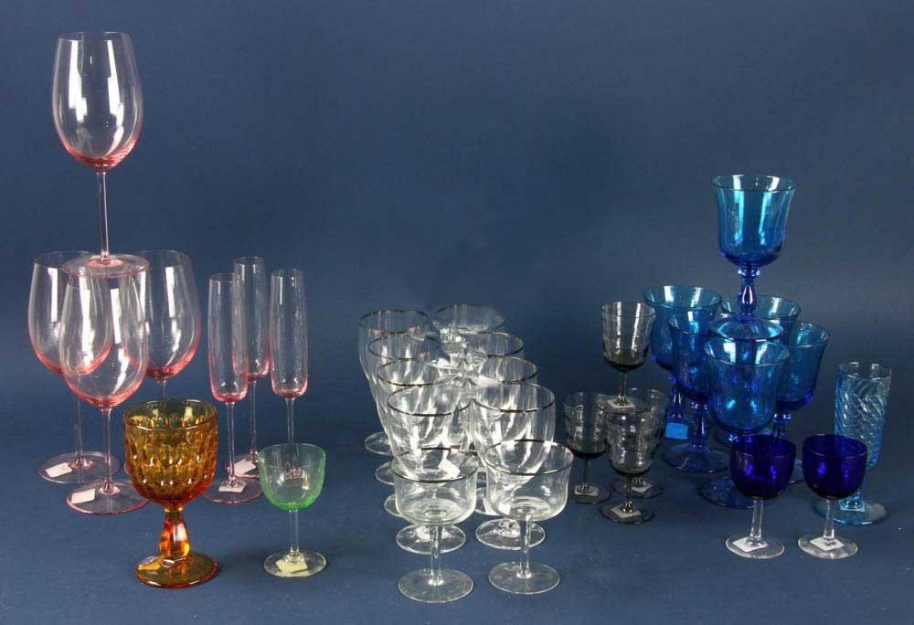 Colored Glass Stemware