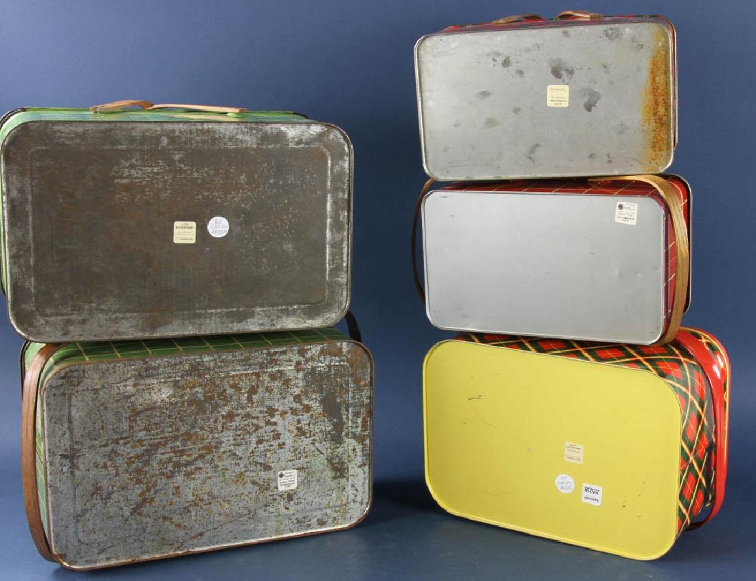 Group of Vintage Metal Picnic Boxes - 2