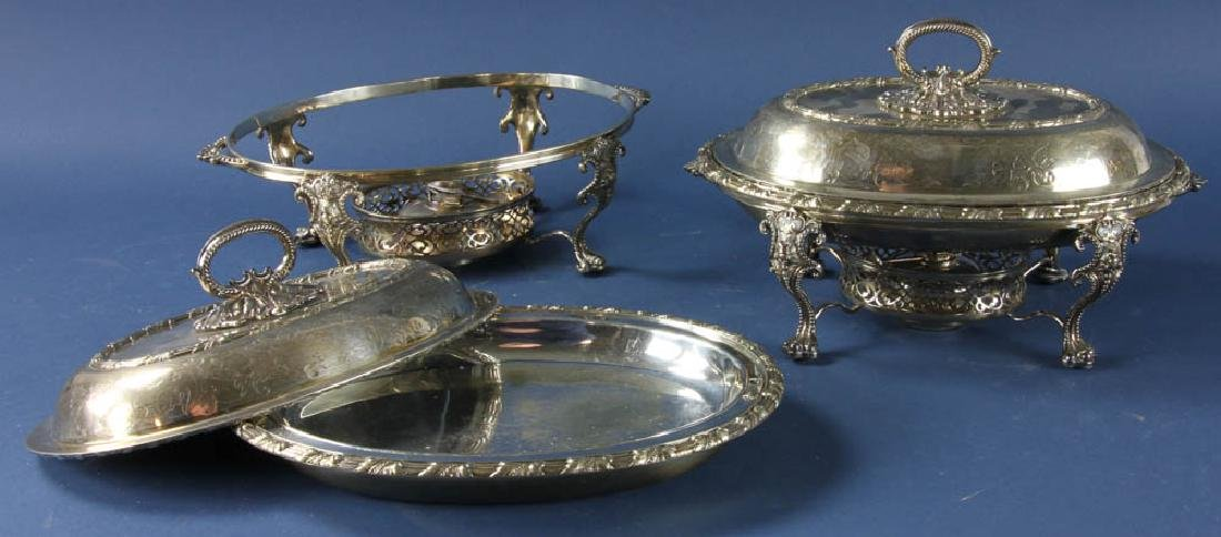 Pair of Antique Sheffield Plated Veg Dishes - 2