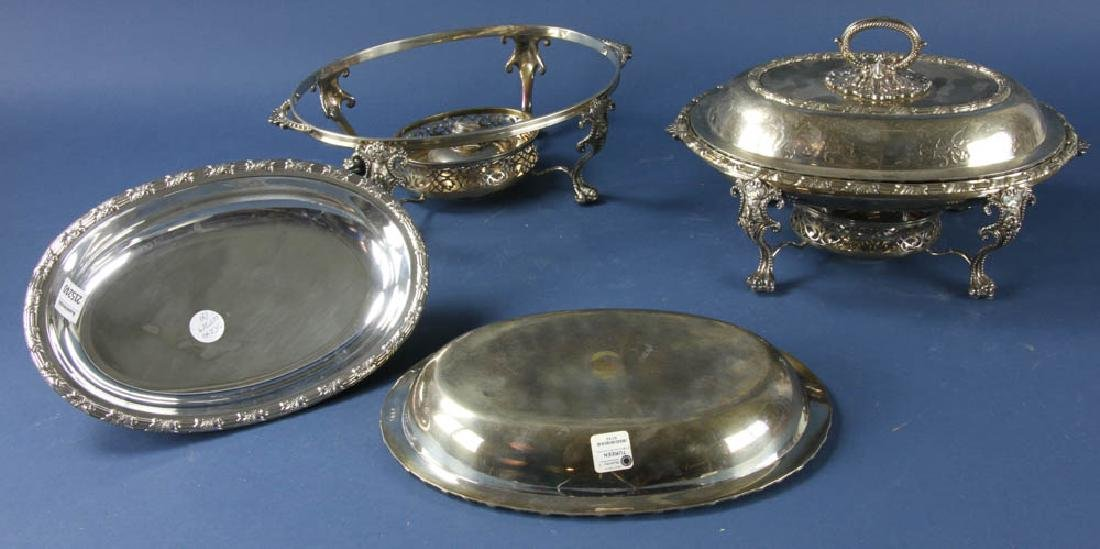 Pair of Antique Sheffield Plated Veg Dishes - 3