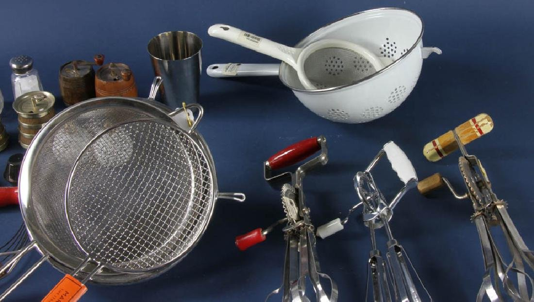 Group of Cooking Utensils, Salts, Peppers - 3