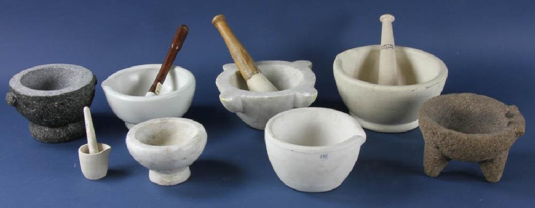 Group of Vintage Mortars and Pestles