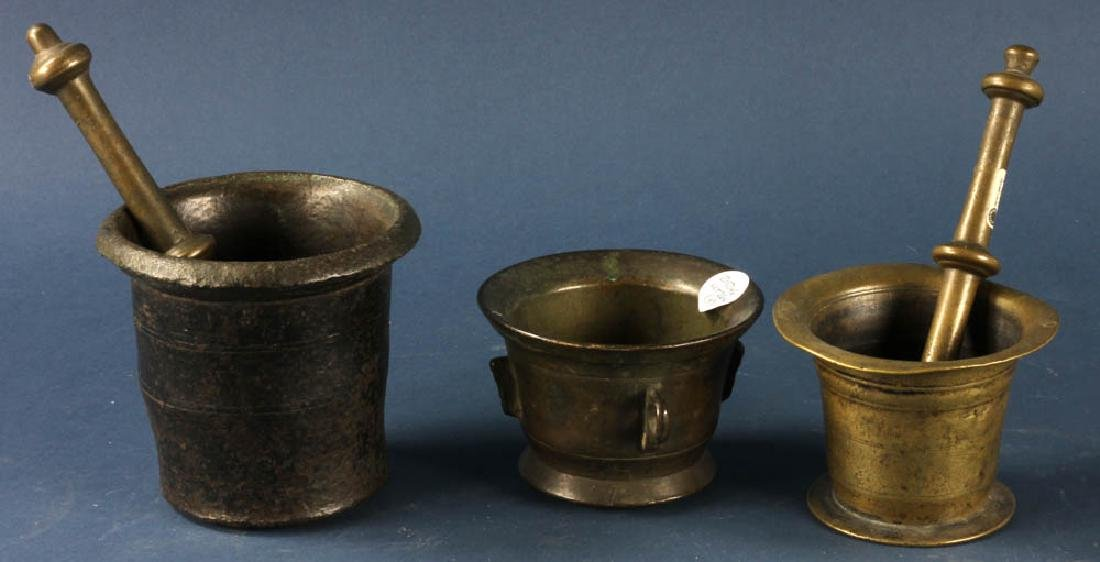 Antique Bronze Mortars and Pestles