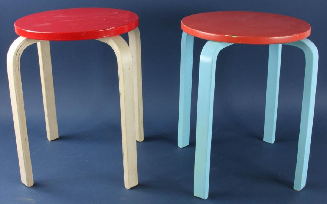 Two Painted Bentwood Stands